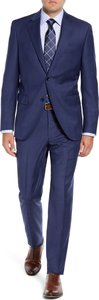 Flynn Classic Fit Plaid Wool Suit