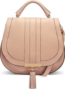 Midi Venice Grained Leather Crossbody Bag - Pink