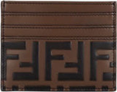FF Embossed Leather Card Case