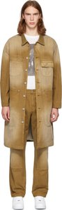 Tan Canvas Workwear Trench Coat