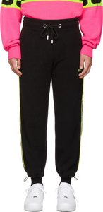 Black Logo Fleece Lounge Pants