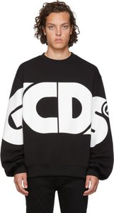 Black and White Huge Logo Sweatshirt