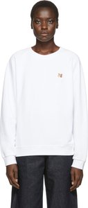 White Fox Head Sweatshirt
