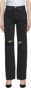 Black Rips High-Rise Loose Jeans