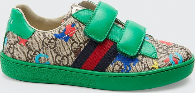 New Ace GG Supreme Ranch-Print Sneakers, Toddler/Kids