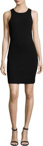 Ritter Sleeveless Body-Con Mini Dress, Black