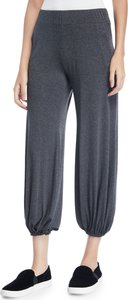 Puff Cropped Jersey Jogger Pants