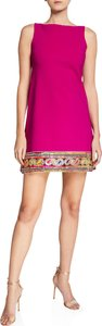 Giuliana Kinari Bateau-Neck Sleeveless Mini Dress w/ Braided Hem