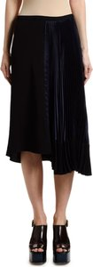 Plisse Satin Asymmetric Skirt