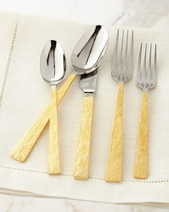20-Piece Smoke Flatware Service, Gold
