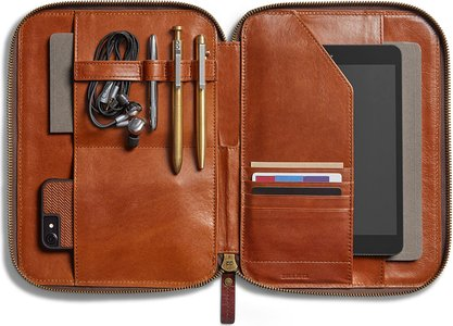 Leather Tech Portfolio Case
