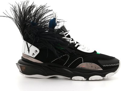 Runway High Bounce Feather Sneakers