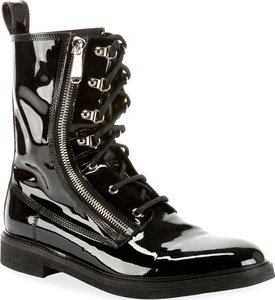 Patent Leather Melvin Combat Boot