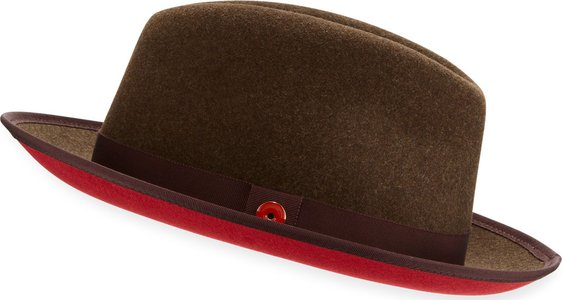 Prince Red-Brim Fedora Hat