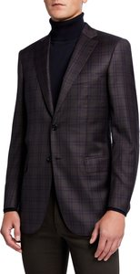 Gingham Check Two-Button Jacket