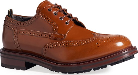 Country Brogue Lug-Sole Derby Shoes