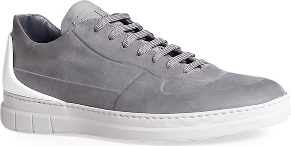 Radial Spoiler Low-Top Leather Sneakers