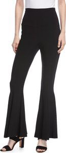 High-Waist Pull-On Cropped Fishtail Pants