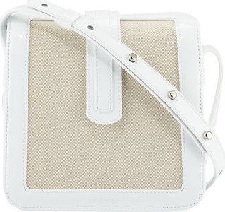 Jade Patent/Canvas Crossbody Bag