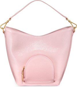 Eva Mini Soft Leather Bucket Bag, Pink