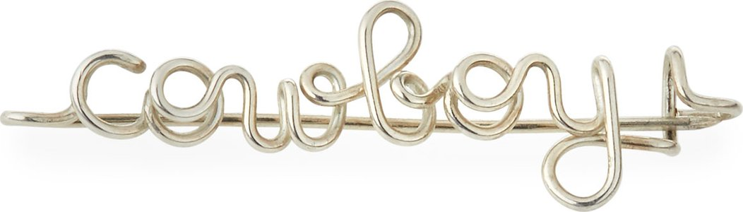 Personalized 5-Letter Wire Brooch, Silver