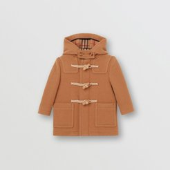 Childrens Double-faced Wool Duffle Coat, Size: 2Y