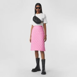 Diamond Quilted Skirt, Size: 02, Pink
