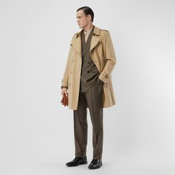 The Mid-length Kensington Heritage Trench Coat, Size: 42, Beige
