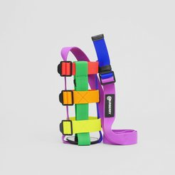 Rainbow Water Bottle Holder, Black