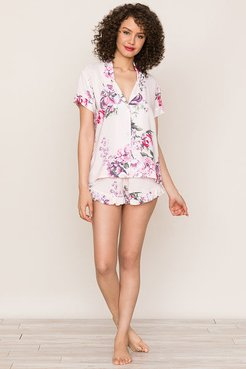 Beauty Rest Floral Pajama Set Swoonlight Cameo