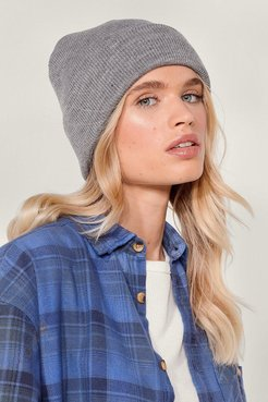 Hot Headed Knitted Beanie Hat - Grey