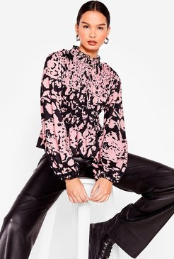 Ever Fallen in Love Floral Shirred Top - Pink