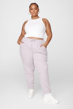 Run It By Us Plus High-Waisted Joggers - Mocha