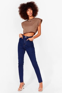 Stretch the Rules High-Waisted Skinny Jeans - Mid Blue