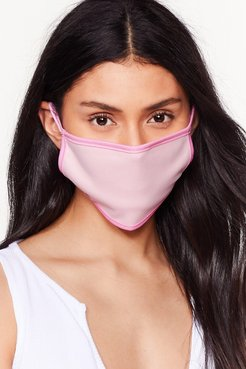 It's Up Two-Tone You Fashion Face Mask - Pink
