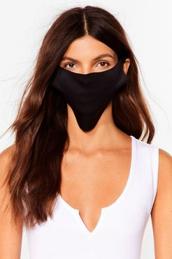 No Strings Attached Fashion Face Mask - Black