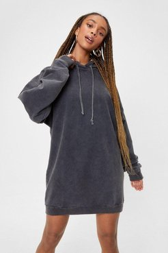 A Wash for Words Oversized Hoodie - Grey