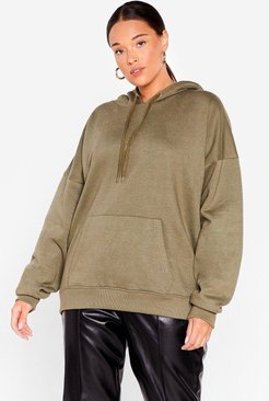 The Wait is Over-sized Plus Hoodie - Khaki