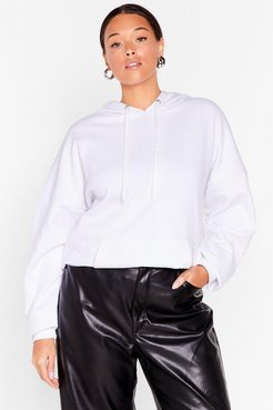 The Wait is Over-sized Plus Hoodie - White