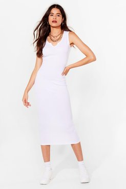 Notch Today Fitted Midi Dress - White