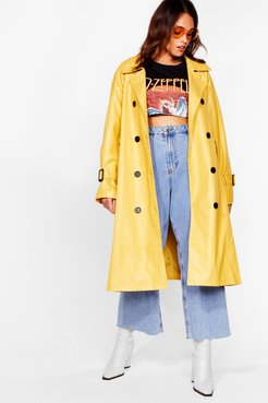 Time is on My Shine Plus Belted Trench Coat - Ochre