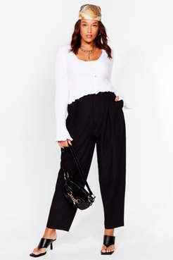 Dance to the Pleat Plus Tapered Pants - Black