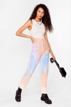 Straight to the Point Tie Dye Jeans - Blue