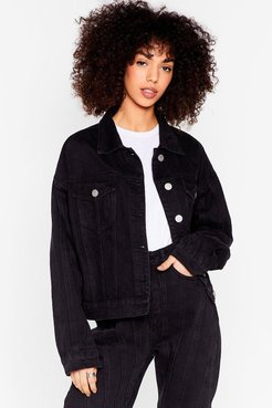 What Do You Seam Relaxed Denim Jacket - Washed Black