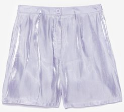 glass shorts co ord - Lilac