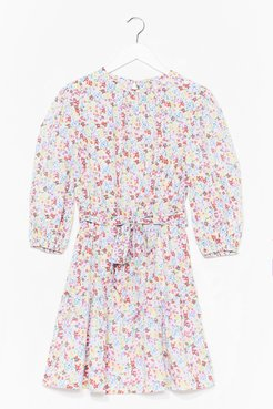 So Much Love to Give Floral Dress - Baby Blue