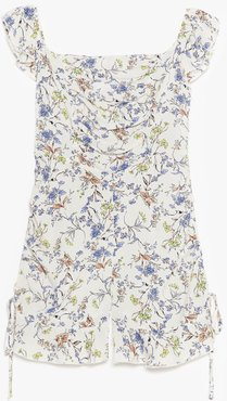 Before You Grow Floral Ruffle Romper - White