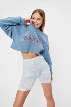 And What Do You See Tie Dye Shorts - Baby Blue