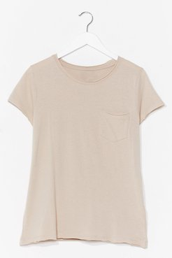 On Top of the World Cotton Tee - Oyster