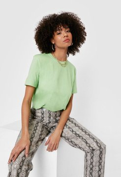 Classic Relaxed Crew Neck T-Shirt - Lime
